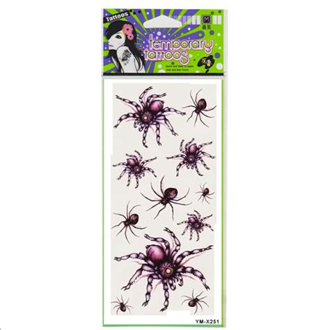nipple tattoo stickers red spider tattoo design insect waterproof temporary