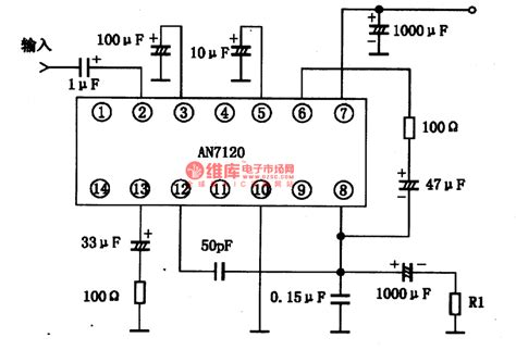 integrated circuit power lifier an7120 2 lw the integrated circuit of audio power lifier lifier circuit circuit