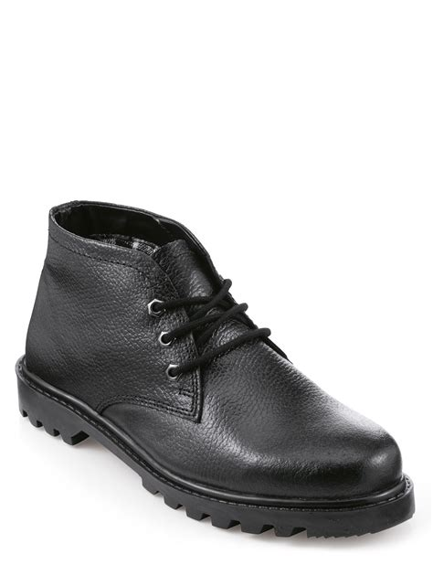 wide fit mens boots mens real leather wide fit lace boot chums