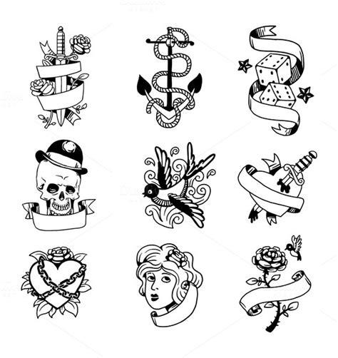 tattoo old school vector swirl star tattoo designs 187 designtube creative design