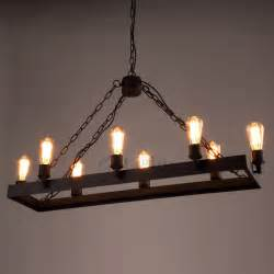 industrial style lighting rustic 8 light wrought iron industrial style lighting fixtures
