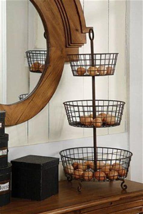amazon com three tier metal basket vegetable stand home