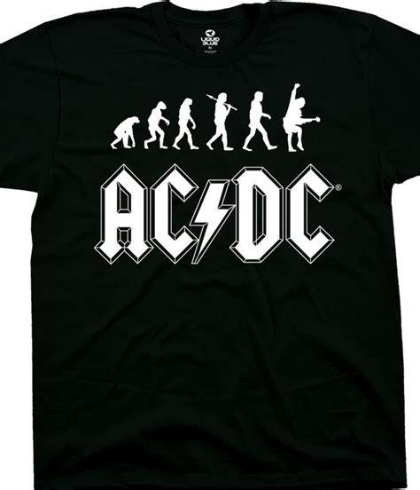 Tshirt Evolution Black B C ac dc rock evolution black t shirt liquid blue