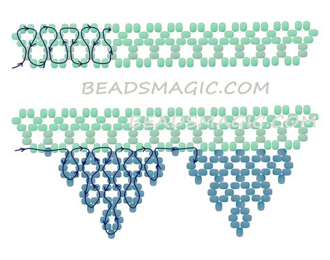 pattern magic tutorial free pattern for beaded necklace white lace beads magic