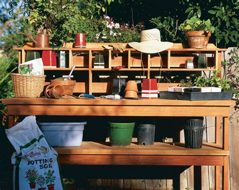 free potting bench plans free plan a workbench for the gardener finewoodworking