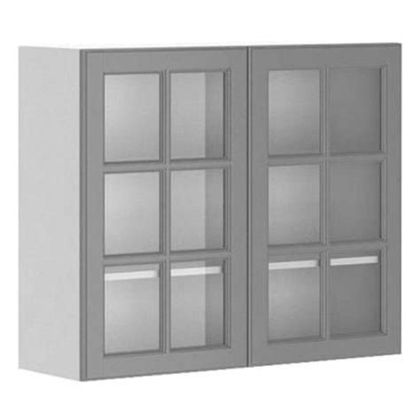 glass kitchen cabinet doors home depot 36x30x12 5 in buckingham wall cabinet in white melamine