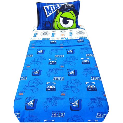 Monsters Inc Bedding Set 3pc Monsters Inc Scare Bed Sheet Set Mike Sully Sheets Bedding Ebay