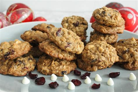 Chocaholic Choco Chips chewy oatmeal cookies with cranberries and white chocolate