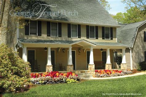 Saltbox Colonial Stylish Front Porch Designs