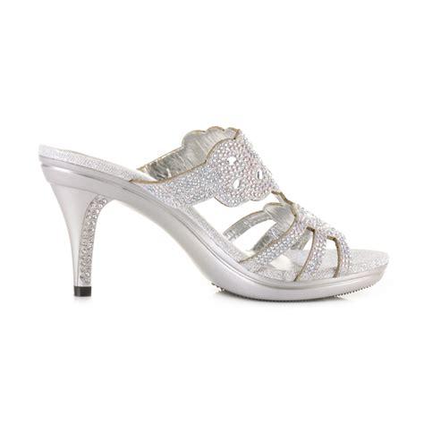 Mid Heel Wedding Shoes by Womens Mid Heel Mule Gem Diamante Embellished Prom