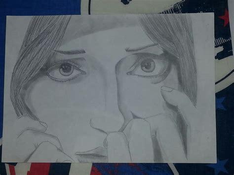 imagenes a lapiz tristes dibujo a lapiz mujer triste y dem 225 s taringa