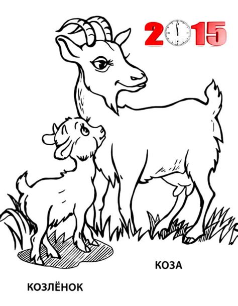 coloring page year of the sheep goat and sheep 2015 new year coloring pages