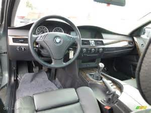 black interior 2004 bmw 5 series 530i sedan photo
