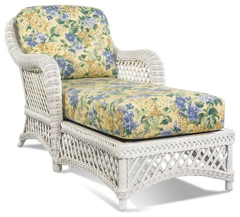 white wicker chaise lounge white wicker chaise lanai tropical indoor chaise