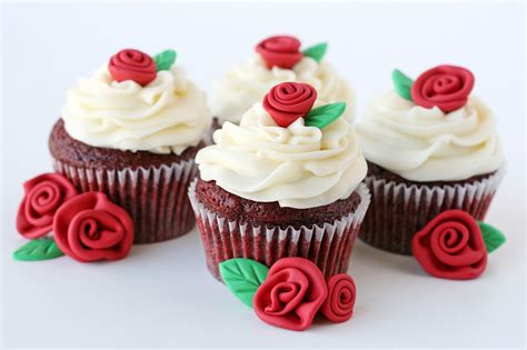 cupcakes and glorious treats velvet cupcakes with roses recipe