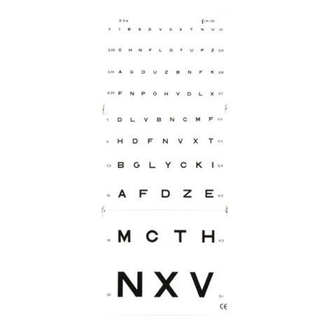 tavola oculistica test acuit 233 visuelle de monoyer 3m 224 22 90