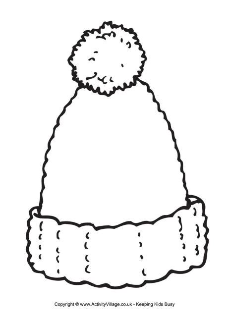 winter hat template woolly hat writing frame
