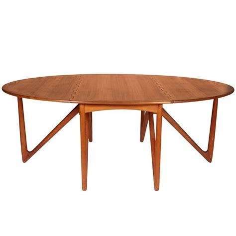 niels kofoed drop leaf teak dining table for sale at 1stdibs