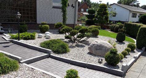 Steine Garten by Kies Steine Vorgarten Picture Quote Garten Designs