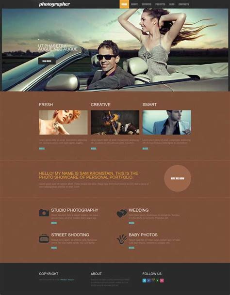 drupal themes photography 20 free responsive drupal themes designmaz