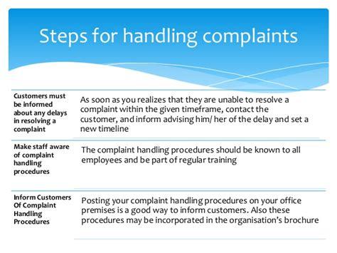 Handling A Complaint Letter Customer Customer Complaint Management