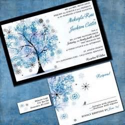 winter tree wedding invitation winter custom