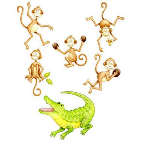 5 monkeys swinging in a tree five little monkeys finger plays
