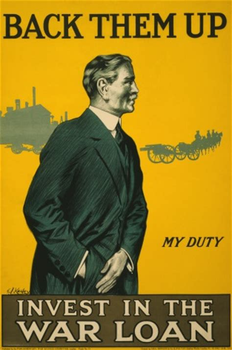 Poster One 1 30x40cm back them up vintage ww1 poster