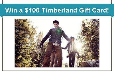 Timberland Gift Card - urbansherp com 100 timberland gift card giveaway sweepstakesbible