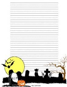 Halloween Printable Writing Paper Halloween Graveyard Stationery Free Halloween Writing Paper