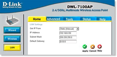 mydlink ip address dwl 7100ap dlink products configuration and installation