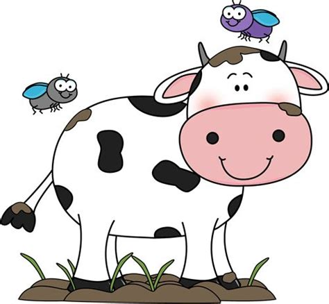 cow clipart cow clip cow in the mud with flies clip