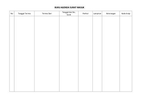 format buku ekspedisi intern format buku agenda