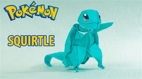 How To Make An Origami Squirtle - paper origami squirtle ゼニガメ tutorial henry