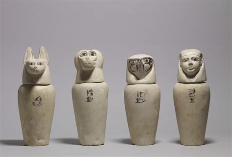 what are jars file a complete set of canopic jars walters