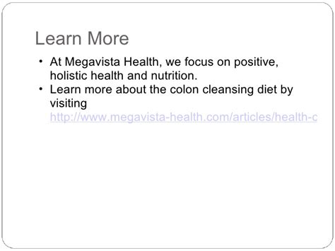 Clear Change Detox Powerpoint by Colon Cleansing Diet Before Colonoscopy
