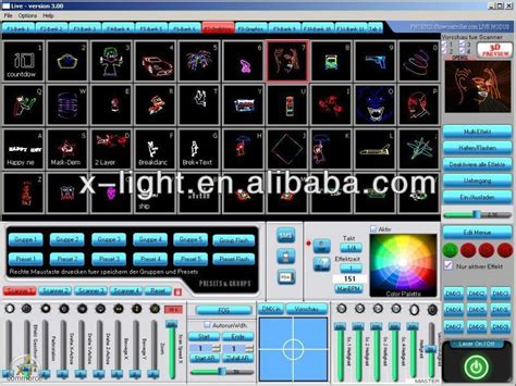 laser light show software ilda dmx laser software