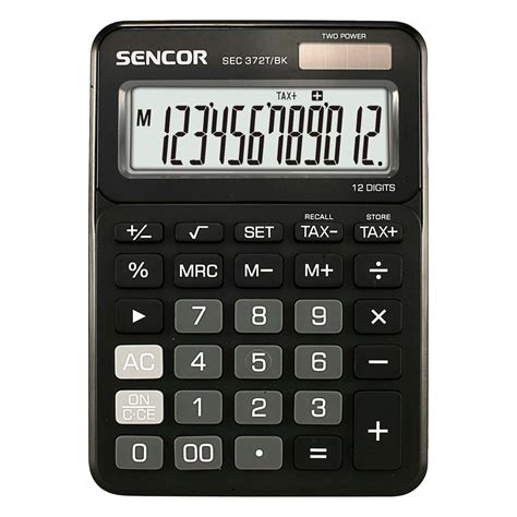 table calculator sec 372t bk sencor let s live