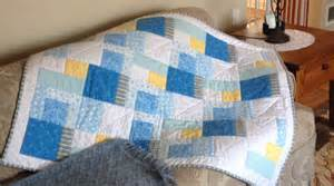 flannel patchwork baby quilt quiltsby me