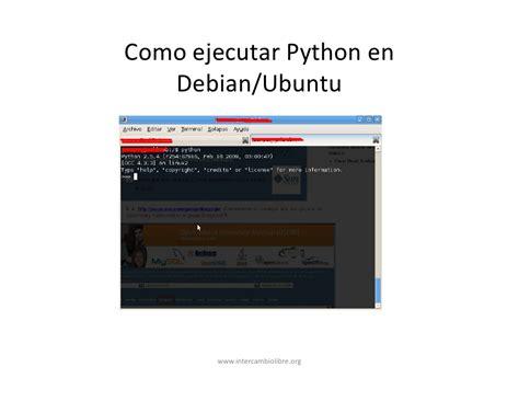 tutorial python en ubuntu python parte1