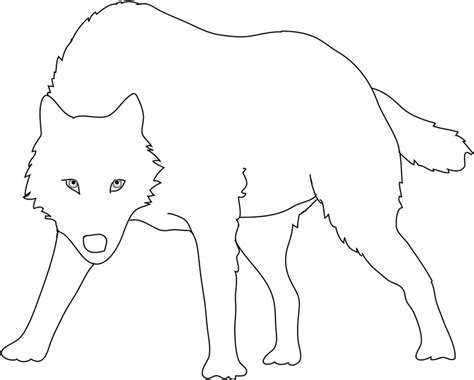 Simple Wolf Outline by Howling Wolf Outline Www Imgkid The Image Kid Has It