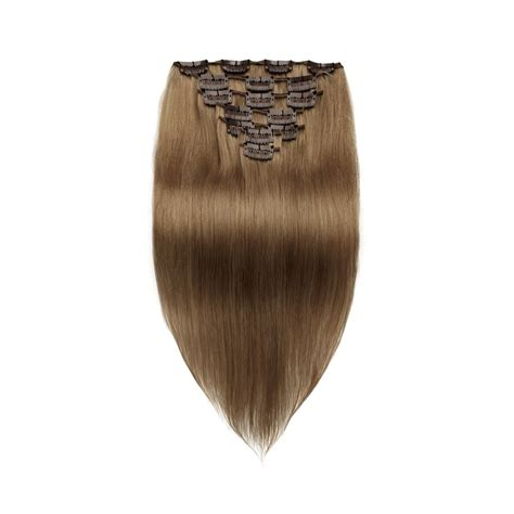 Hairclip Biglayer Semihuman Wavy Light Brown 18 inch light brown clip in hair extensions