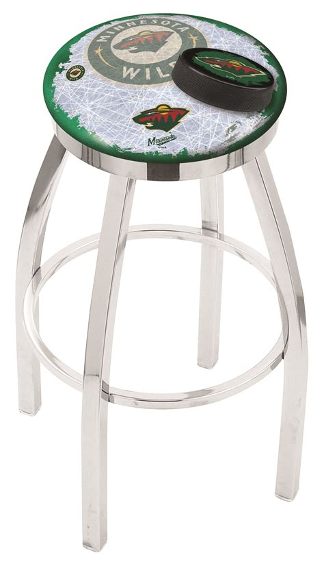Minnesota Bar Stools by Minnesota Bar Stool W Official Nhl Logo Family Leisure