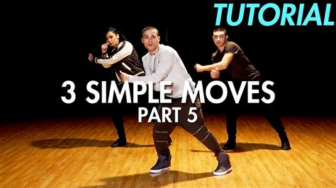 tutorial dance 3 simple dance moves for beginners part 5 hip hop dance
