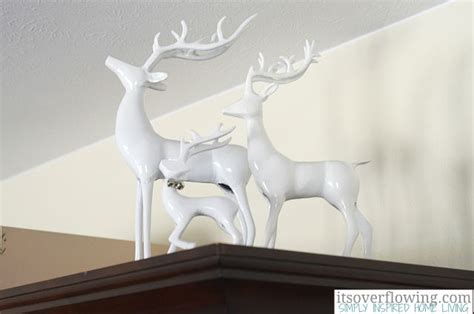 white reindeer christmas decor pinterest