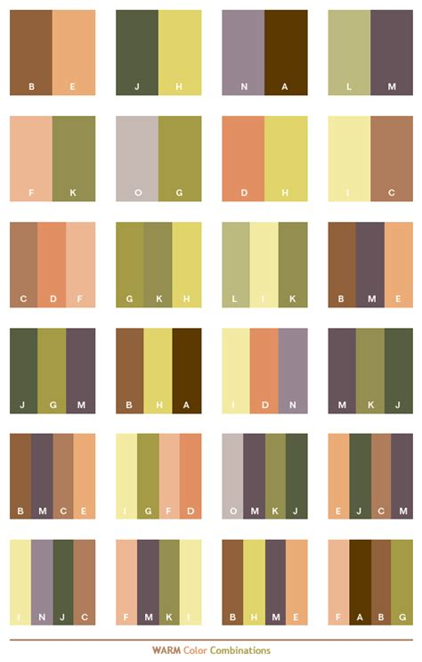 warm color schemes color combinations color palettes for print cmyk and web rgb html