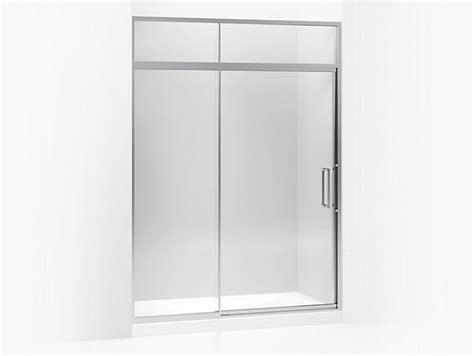 Kohler Steam Shower Doors Lattis Pivot Shower Door With Sliding Steam Transom K 705825 L Kohler