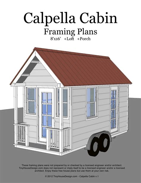 Home Design 8x16 by Calpella Cabin 8 215 16 V1 Cover