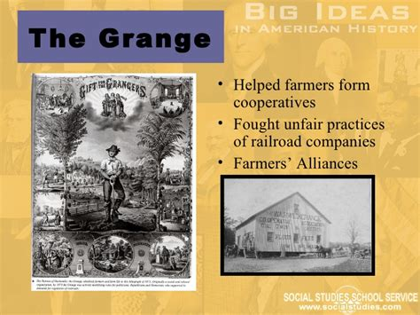 Grange History Definition by Big Ideas In U S History Part 1