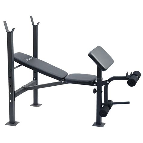 curl bar bench soozier incline flat exercise free weight bench w curl